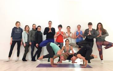 Rocket Yoga Workshop at Relevel in Cologne.