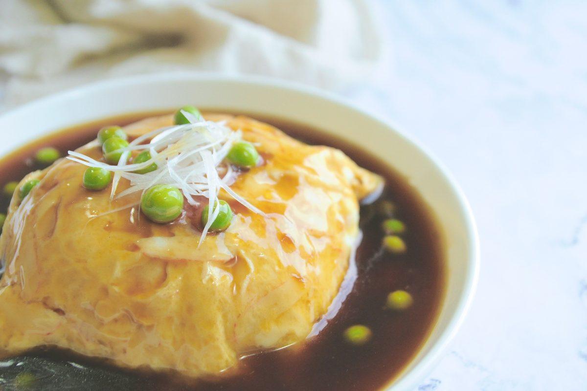 天津炒飯(かに玉丼)