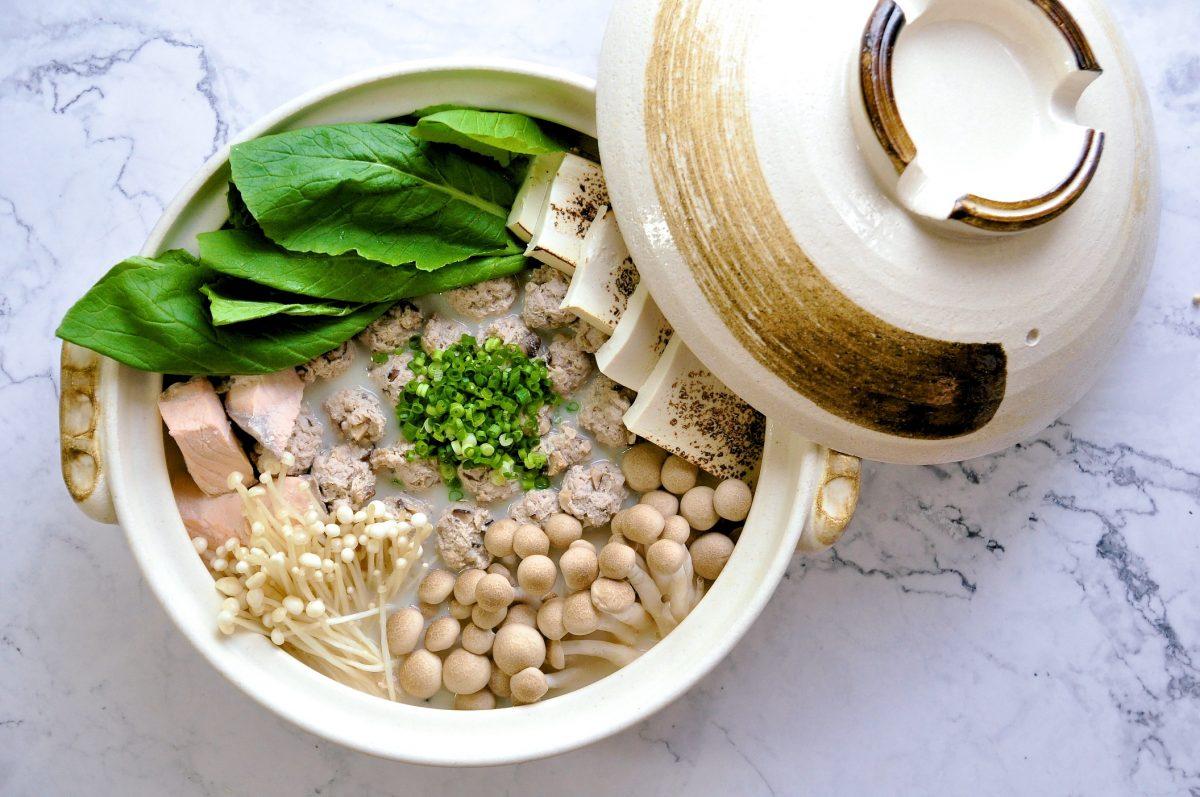 火鍋料理:豆漿味噌丸子鍋