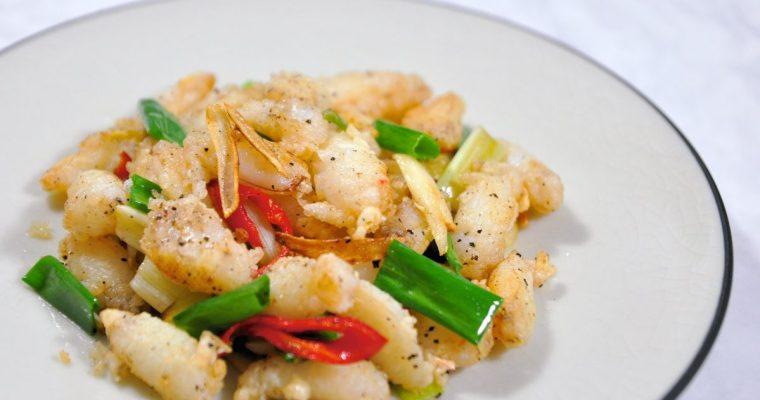台式熱炒:椒鹽蟹管肉