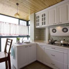Kitchen Remodel Pictures Movable Cabinets 阳台小厨房如何装修设计阳台小厨房改造设计效果 厨房改造图片