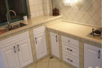 cement tile kitchen red rug 水泥板整体厨房设计水泥板整体厨房装修全过程 水泥瓦厨房