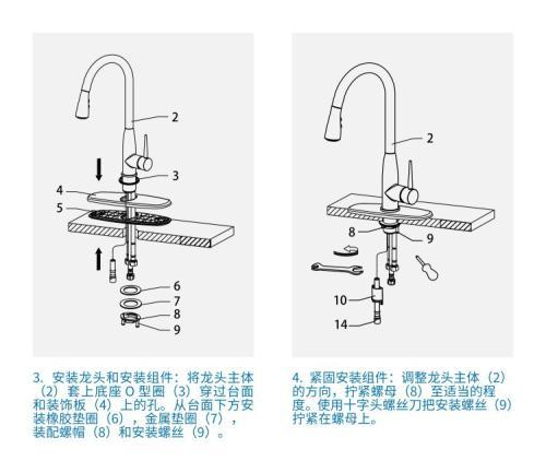 3 hole kitchen faucets how to organize my 厨房水龙头安装方法介绍 3孔厨房龙头