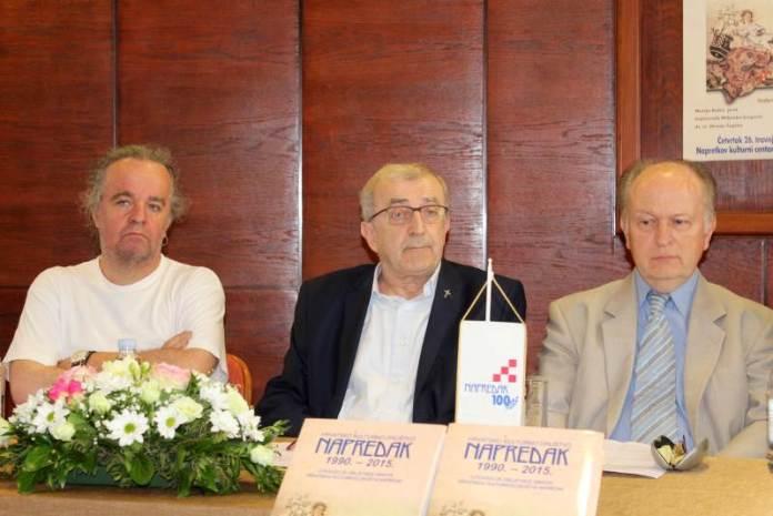 Miljenko Jergović, Franjo Topić i Mislav Ježić - Promocija monografije Hrvatsko kulturno društvo Napredak 1990. – 2015.