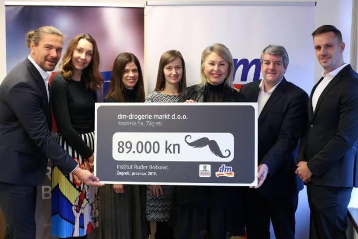 Tvrtka dm Institutu Ruđer Bošković predala donaciju od 89.000 kuna za istraživanje raka prostate