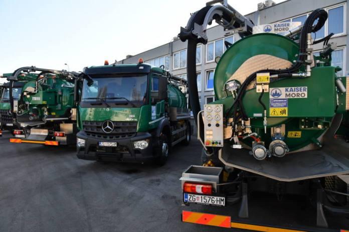 Vodoopskrba i odvodnja dobila šest specijalnih vozila za čišćenje kanalizacija i slivnika