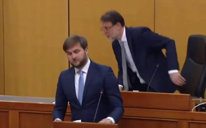 VIDEO: Pogledajte kako su na potres reagirali predsjednik Sabora Jandroković i ministar Ćorić