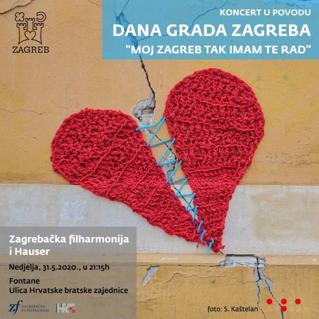 GLAZBENA POSLASTICA ZA DAN GRADA: Koncert Zagrebačke filharmonije i Stjepana Hausera kod fontana