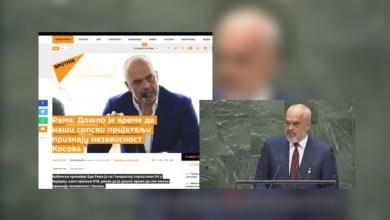 """Photo of """"Serbia të njohë Kosovën"""", si e lexuan mediat serbe thirrjen e Ramës në OKB"""