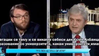 Photo of VIDEO/ Ali Ahmeti 'shpërthen' në emision dhe godet tavolinën: Turp t'iu vijë, po i përçajnë shqiptarët