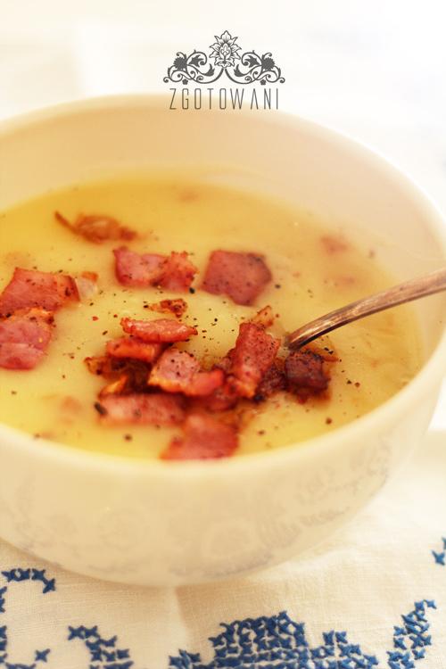Zupa Krem Z Ziemniakow Z Podsmazona Cebulka I Boczkiem Zgotowani