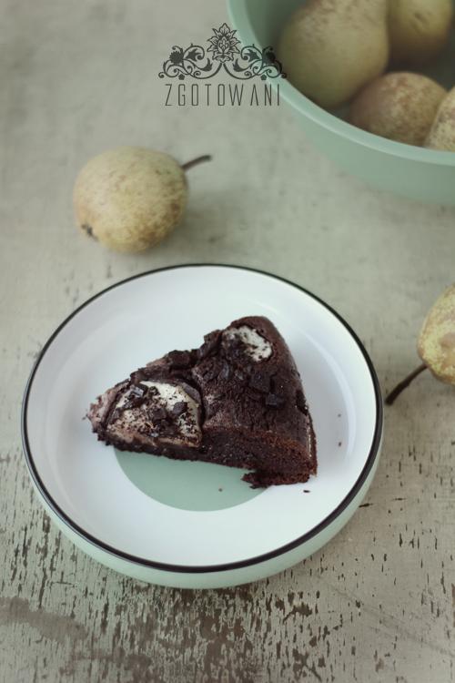 czekoladowe brownie-z-gruszkami-4