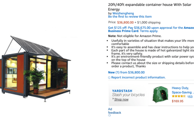 Tiny Home Craze Spreads To Amazon You Can Now Buy This
