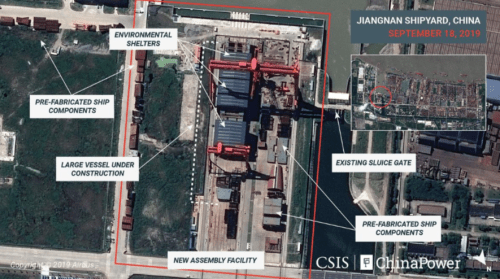Satellite Images Reveal China's Aircraft Carrier Factory