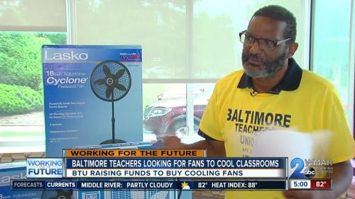 Baltimore City Teachers Beg For Fan Donations Over Lack Of Air Conditioning