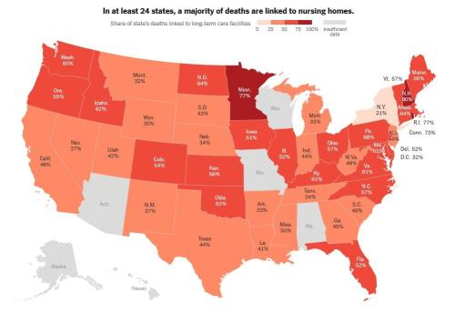 Nursing Homes Account For 11% Of COVID-19 Cases, 43% Of Deaths In US