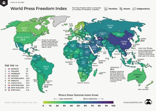 Mapping The The State Of Press Freedom Around The World