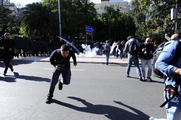 Manifestantes protestam contra a Copa do Mundo em Porto Alegre Ronaldo Bernardi/Agencia RBS