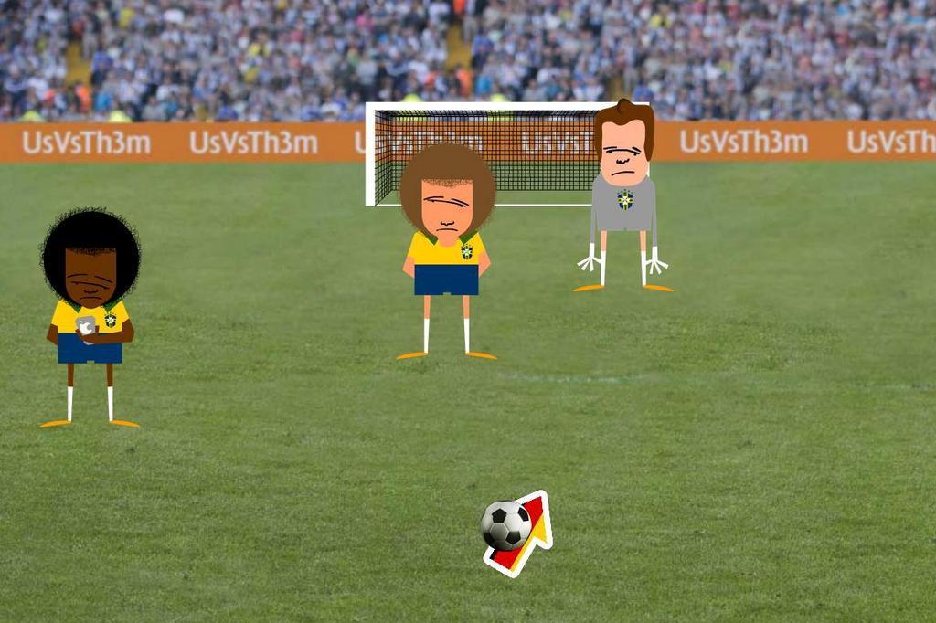 Game da goleada: seja Schürrle e tente marcar contra o Brasil Reprodução/Internet