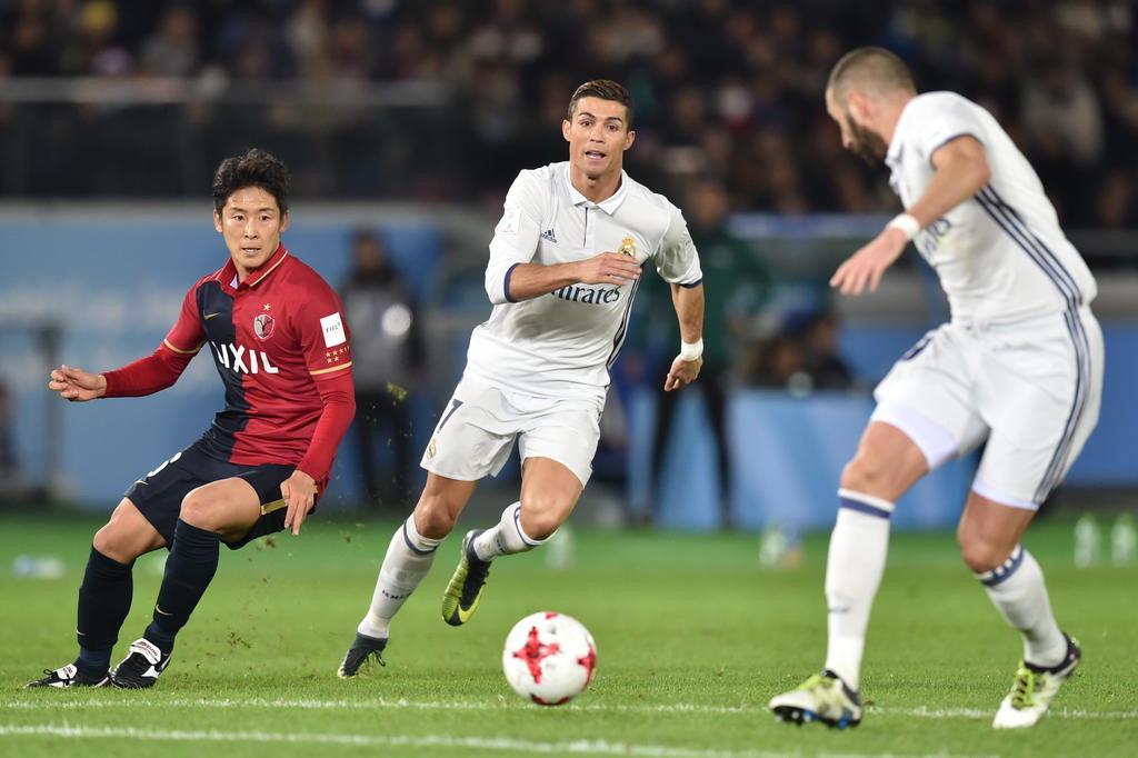 Com três gols de Cristiano Ronaldo, Real Madrid é campeão do Mundial de Clubes Fifa KAZUHIRO NOGI/AFP