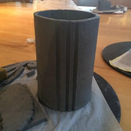 Carved out 'divider'