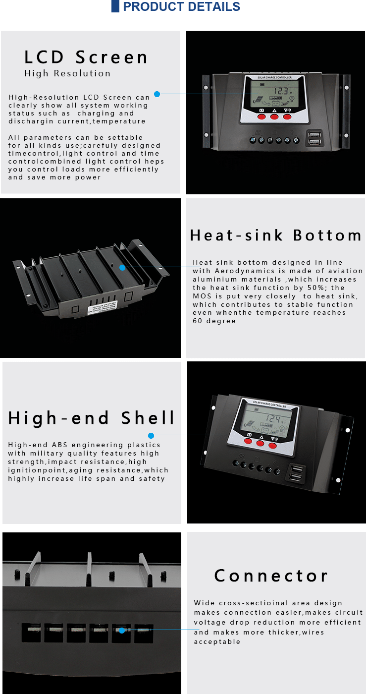 40 amp solar charge controller introduction