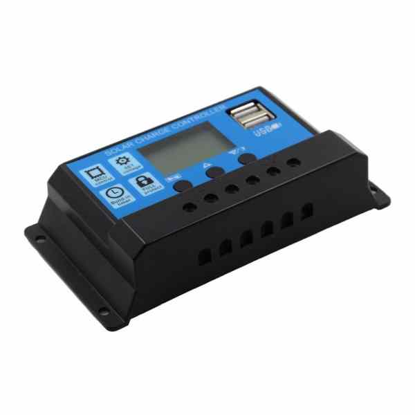Solar Charge Controller With LCD Dual USB Solar Cell Panel 6