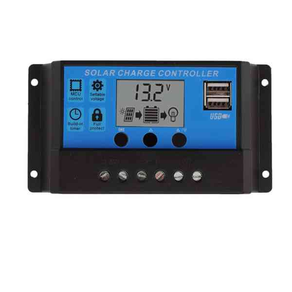 Solar Charge Controller With LCD Dual USB Solar Cell Panel 2