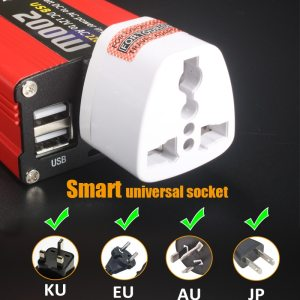 200W car power inverter usb charger adapter 150W portable auto modified 180W 7