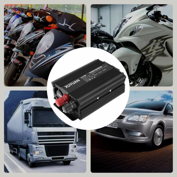 Professional 600W USB Power Inverter DC 12V to AC 220V with LED Indicator Car Converter for Household Appliances 2