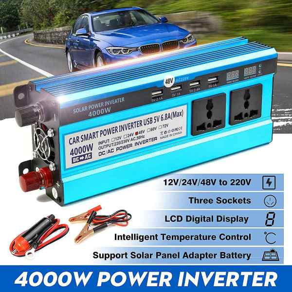 Solar Inverter DC 12V 24V 48V to AC 220V 3000W 4000W 5000W Inverter 2