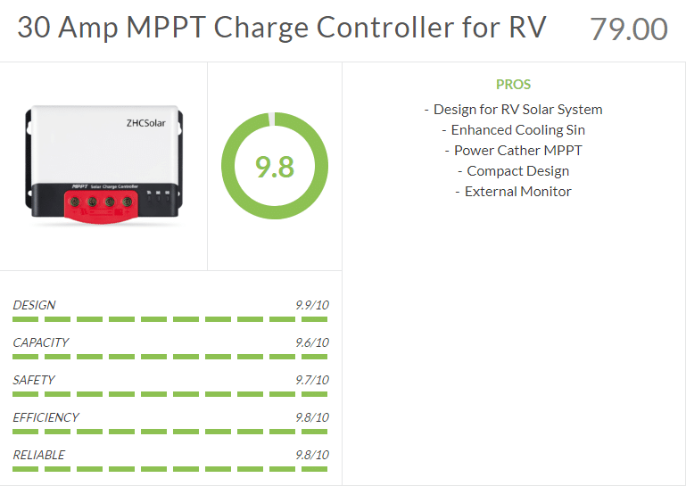 mppt 30 amp rv solar charge controller review