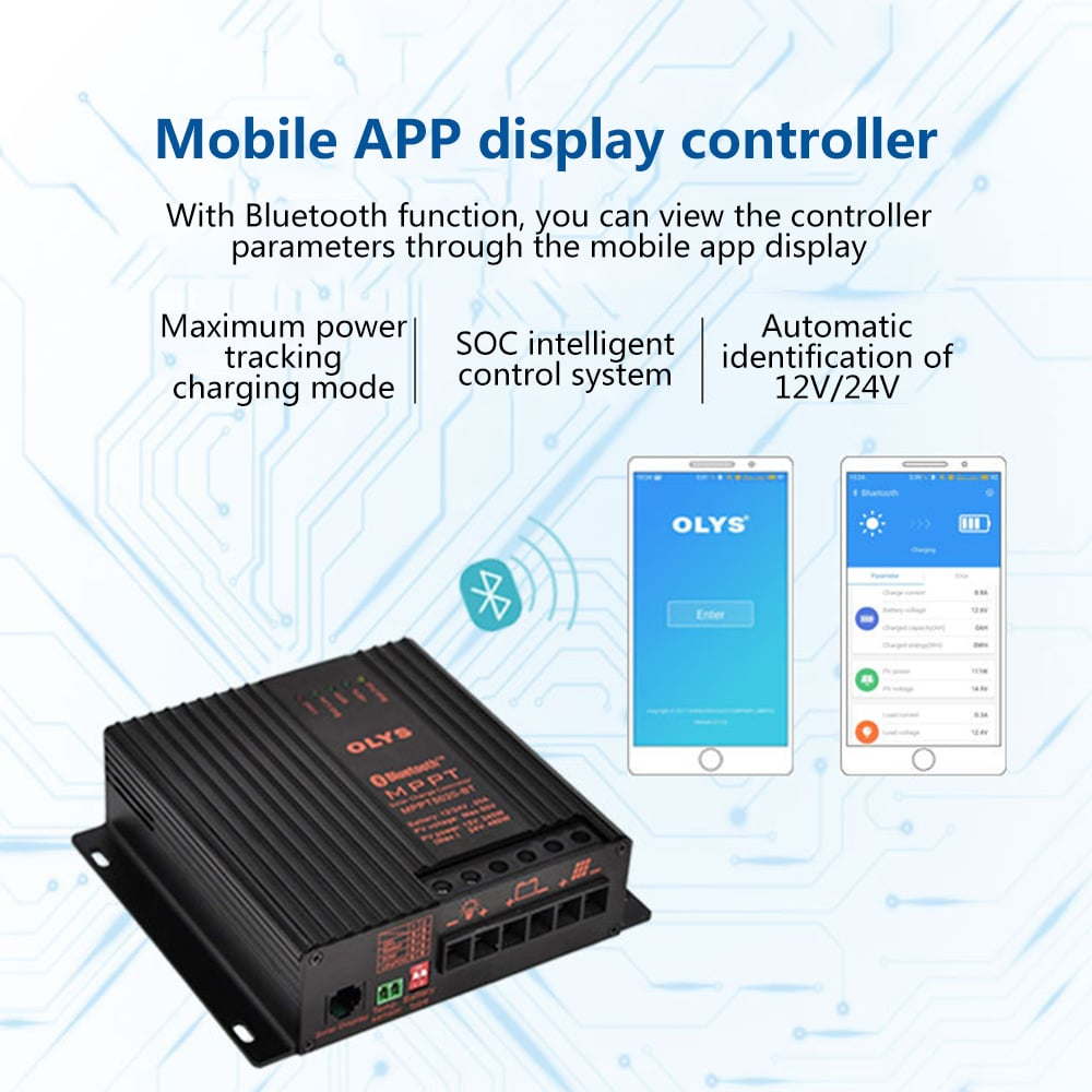 mppt charge controller bluetooth app