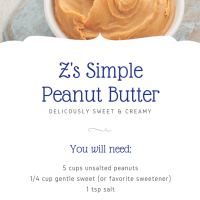 Z's Simple Peanut Butter