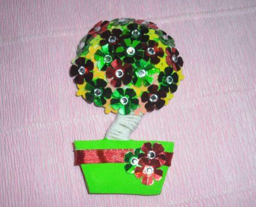 Topiary magneet voor de koelkast,