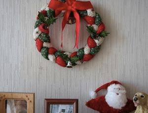 クリスマスリース 布