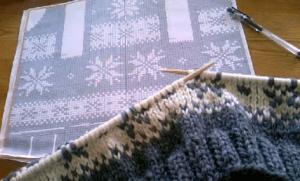 カウチンセーター 手編み 編み図