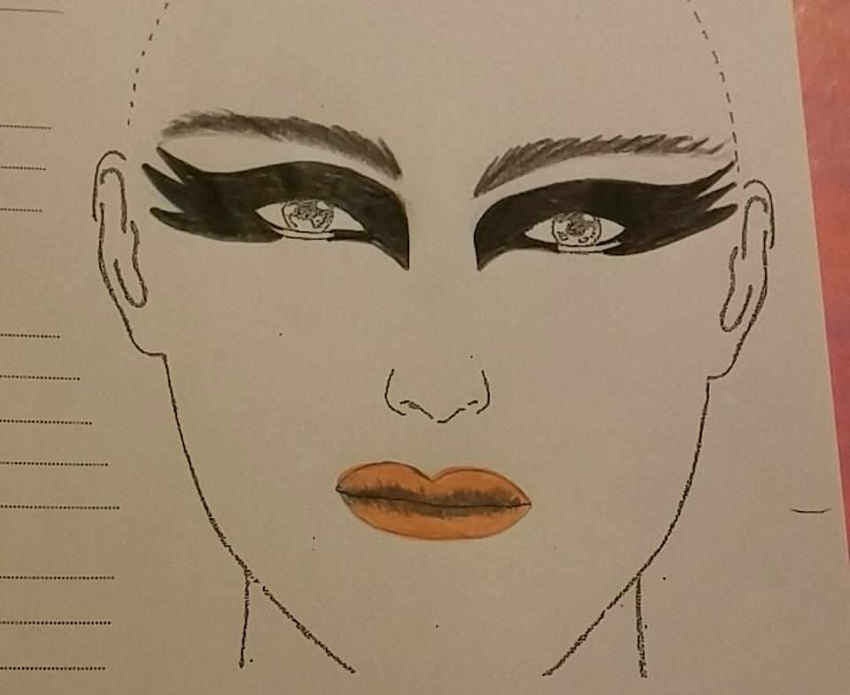 Makeup Sketch by Lisa Robb