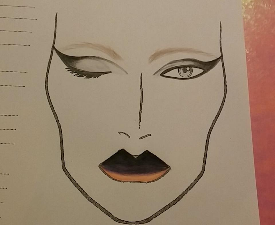 Makeup Sketch by Lisa Rob