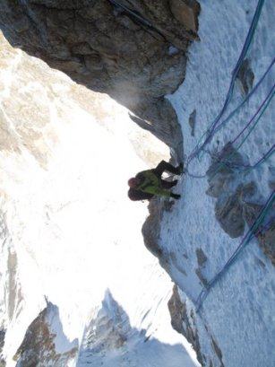 French Climber Assualting a Ridge in the Gongga Range