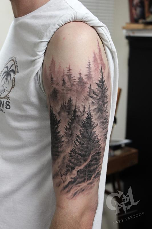 37 Evergreen tree tattoo ideas | tree tattoo, evergreen