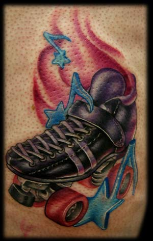 Tattoo Inspiration – Worlds Best Tattoos: Roller Skate Tattoo