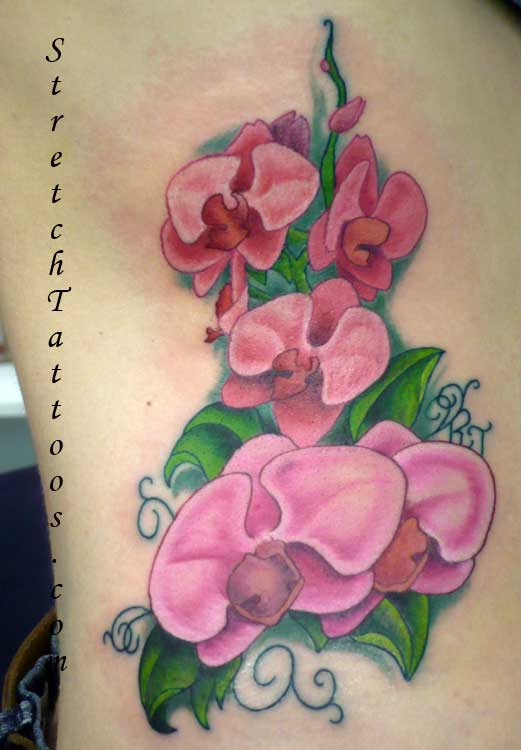 Phoenix Bird With Orchid Flower Tattoo. The meanings of orchids are very