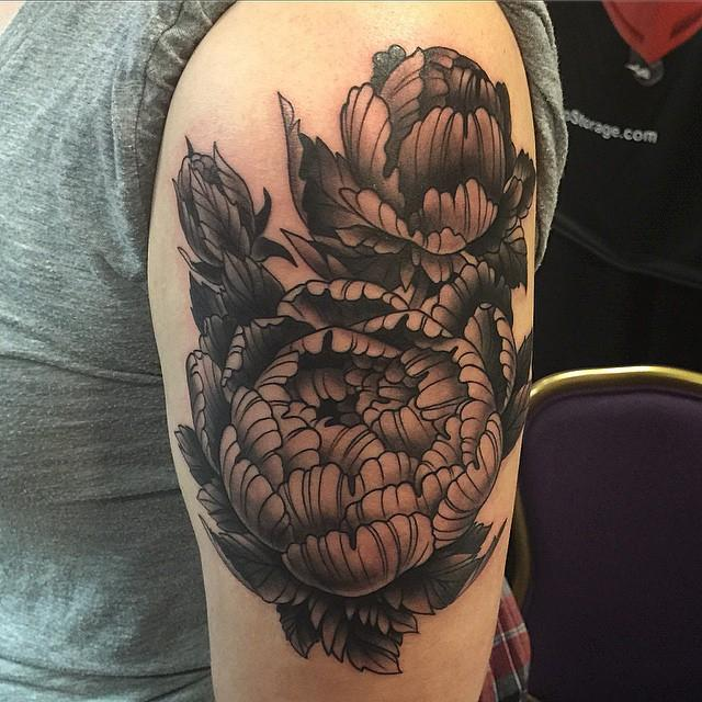 Sunflower Half Sleeve Tattoo