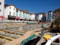 Downtown construction in Lijiang