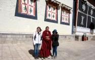 We met a monk!