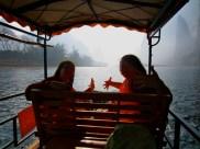 We on a boat, yo