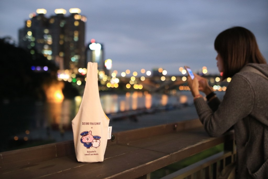 西武鐵道×卡娜赫拉的小動物原創飲料提袋