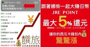 日本消費税大漲至10% 搭JR電車、爆買都在賺錢的省錢妙招 你會了嗎?電子西瓜卡 SUICA 的JRE POINT 還元 要這樣用~快跟著娜柴學|JR東日本 專屬