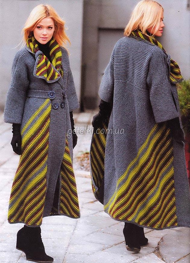 необычное пальто от светланы волкодав вязание спицами журнал